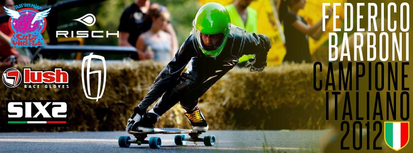 Federico Barboni Campione Italiano Downhill Skateboard 2012